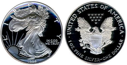 1995 American Silver Eagle Value