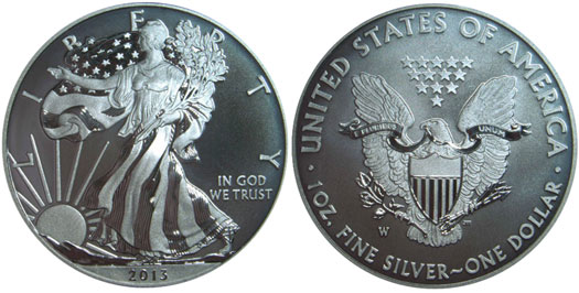 2013-W Enhanced Uncirculated Silver Eagle