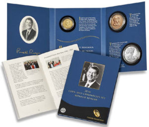 Ronald Reagan Coin and Chronicles Set