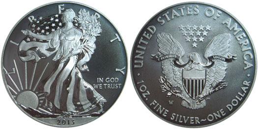 2013-W Enhanced Uncirculated Silver Eagle